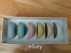 Le Creuset Sorbet Collection mini bowls set 6 pastel color 6 oz NIB