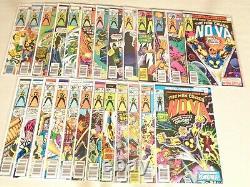 Lot of 25 Nova #1-25 nice copies complete set 1st appearance 1976-1979 Marvel