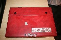MAHJONG Set 144 PCS Triple Layer Tri-Color LUCITE Complete Vintage EUC