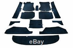 Mercedes Benz W114 W115 Sedan Complete Floor Carpet Set 13 piece Navy Blue COLOR