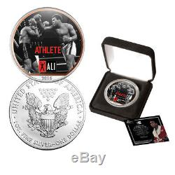 Muhammad Ali Colorized American Silver Eagle Dollar Coin