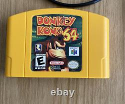 NINTENDO 64 N64 Donkey Kong Funtastic Green System Set COMPLETE with BOX