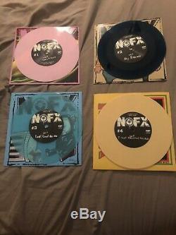NOFX -7 Inch Of The Month Club 2019 Complete Set Color Vinyl 7