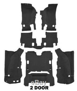 New! 2007 2010 JEEP Wrangler Complete Carpet Set Molded with backing Pick Color