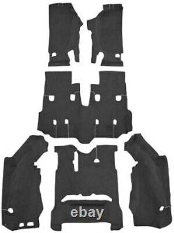 New! 2011 2018 JEEP Wrangler Complete Carpet Set Molded with backing Pick Color