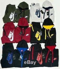 Nike Sweat Suit New Men's Complete Set Full Zip Hoodie Joggers Full Sweat Suit