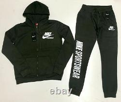 Nike Sweat Suit Top & Bottom Complete Set Full Zip Fleece Brand New