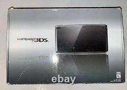 Nintendo 3DS Cosmo Black Complete Set Tested Original Everything FREE SHIPPIN