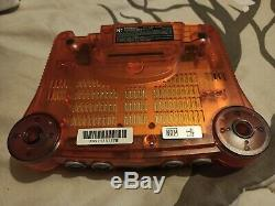Nintendo 64 N64 Funtastic Fire Orange Console Box Set Complete + Game