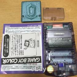 Nintendo GameBoy Color Clear Purple Console Complete Soft set Pokemon Game Boy