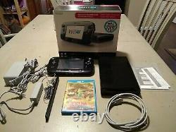 Nintendo Wii U 32GB Black Console Deluxe Set COMPLETE in Box + Zelda Wind Waker
