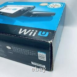 Nintendo Wii U 32GB Black Console Deluxe Set with Nintendo Land Complete in Box