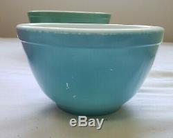 Original 1940s Pyrex Primary color Mixing Bowls bowl TM mark Complete set of 4