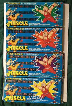 Original 1985 Mattel M. U. S. C. L. E. #1 #2 #3 #4 Complete Sets #1 & #2 Color Sets