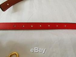 PREOWNED Hermes 13mm belt with Gamma buckle Blush/Capucine Color COMPLETE SET