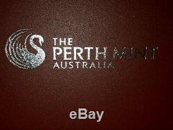 Perth Dragon Colorized Gilt Series complete set (10) 1 oz SILVER coin set