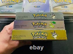 Pokemon GOLD SILVER CRYSTAL TRILOGY Nintendo GAMEBOY COLOR CIB Complete SET