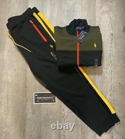 Polo Ralph Lauren Colorblock Mens Track Jacket + Sweat Pants Complete Set XXL