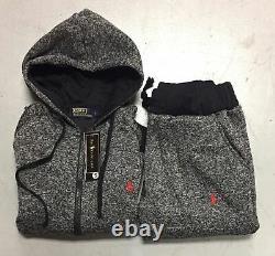 Polo Ralph Lauren Sweat Suit Complete Set Full Zip Hoodie Pants Brand New