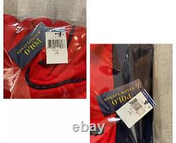 Polo Ralph Lauren Track Suit Black Red Men's Hoodie + Sweat Pants Complete Set