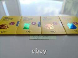 RARE Austrian Crypto Stamp 2.0 5 complete Sets, 20 UNOPENED COLORS UNKNOWN