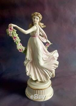 Rare Complete Set Of Wedgwood Dancing Hours Figurine Collection In Pastal Colour