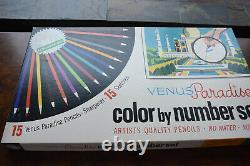 Rare Vintage complete unused Venus Paradise Color by Number Set-Famous People