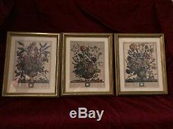 Robert Furber- 12 Months of Flowers 1982 Bombay Co. Of Canada- Complete Set