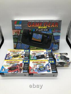 SEGA Game Gear Micro 4 Color Complete Set + 16 Pins Collection LimitedJapan new