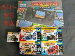SEGA Game Gear Micro 4 Color Complete Set + 16 Pins Collection box limited JP