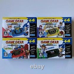 SEGA Game Gear Micro 4 Color Complete Set + Big Window Micro IN HAND
