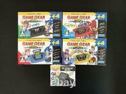 SEGA New Game Gear Micro 4-color complete set with bonus big window microF/S