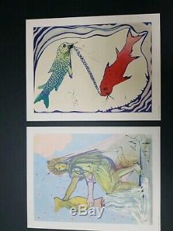Salvador Dali Twelve SIGNS OF THE ZODIAC Complete set of 12 color 1969 18×14
