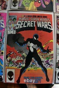 Secret Wars #1-12 Marvel Comics Complete Set 1984 #8 1st Black Suit Spider-Man
