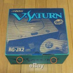 Sega V Saturn Victor Console System Complete Set RG-JX2 (Y) rare Gray Color JP