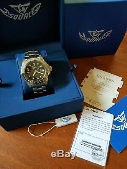 Squale 1545 30 ATMOS GMT Ceramica Dive Watch Complete Set, Bi-Color Bezel