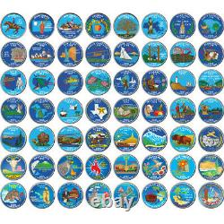 State & Territory 56 Quarter Colorized Complete set (1999-2009)