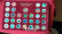 Stunning Full Set Colour Decal Original 2011 Olympic Games+ Completer Medal