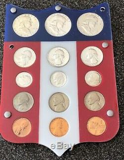 Superior High End 1953,1954,1955 Complete Proof Sets In Colorful Shield Must See