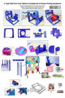 TECHTONGDA One Color Complete Set of Screen Printing Machine for Ballon
