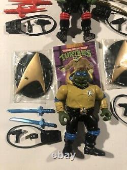 TMNT Star Trek Mike Leo Raph Set 1994 Complete Every Weapon Color Variation