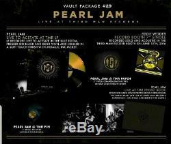 Third Man Records Tmr Vault 29 Pearl Jam Complete Set Color Vinyl Sealed