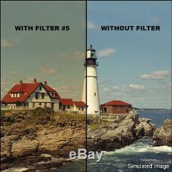 Tiffen 4 x 5.65 Orange Coral Solid Warm Color Filter 1-5 COMPLETE SET