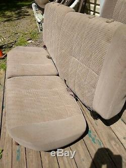 Toyota 1997 98 99 4Runner Complete Rear Seat Set RH LH Brown Oak Color withHinges
