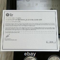 UK 2014 PORTRAIT OF BRITAIN LANDMARK 4 X £5 SILVER PROOF COLOUR SET complete