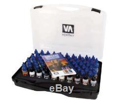 Vallejo Game Color Paints Complete Set 80 Acrylic Paints Mecha Case 69990 NEW