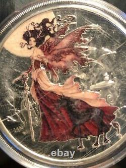 Very LE AMY BROWN FAIRY SERIES Complete set of 6 1 oz. Colorized silver PROOFS