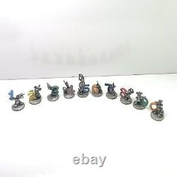 Very Rare Hudson Pewter Disney Birthday Figures With Colored Numbers Complete Set