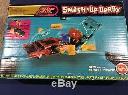 Vintage Kenner Ssp Smash Up Derby Complete Set. Rare Colors