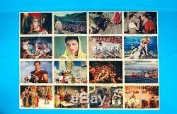 Vintage MGM 1959 BEN-HUR Lobby cards complete set 16 pcs color photo set